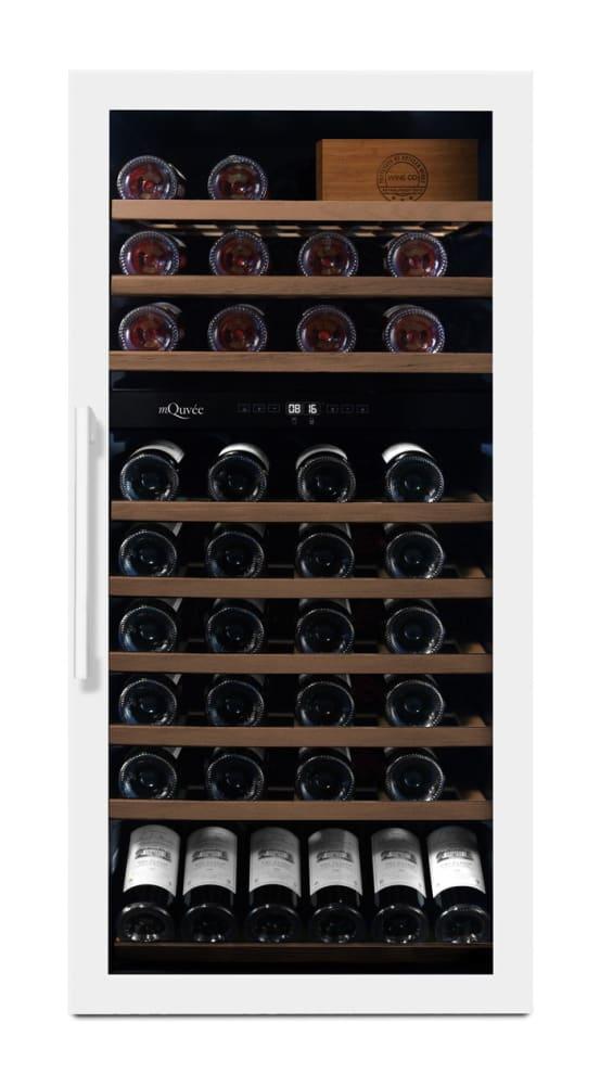 mQuvée Freistehender Weinkühlschrank - WineServe 70 Powder White