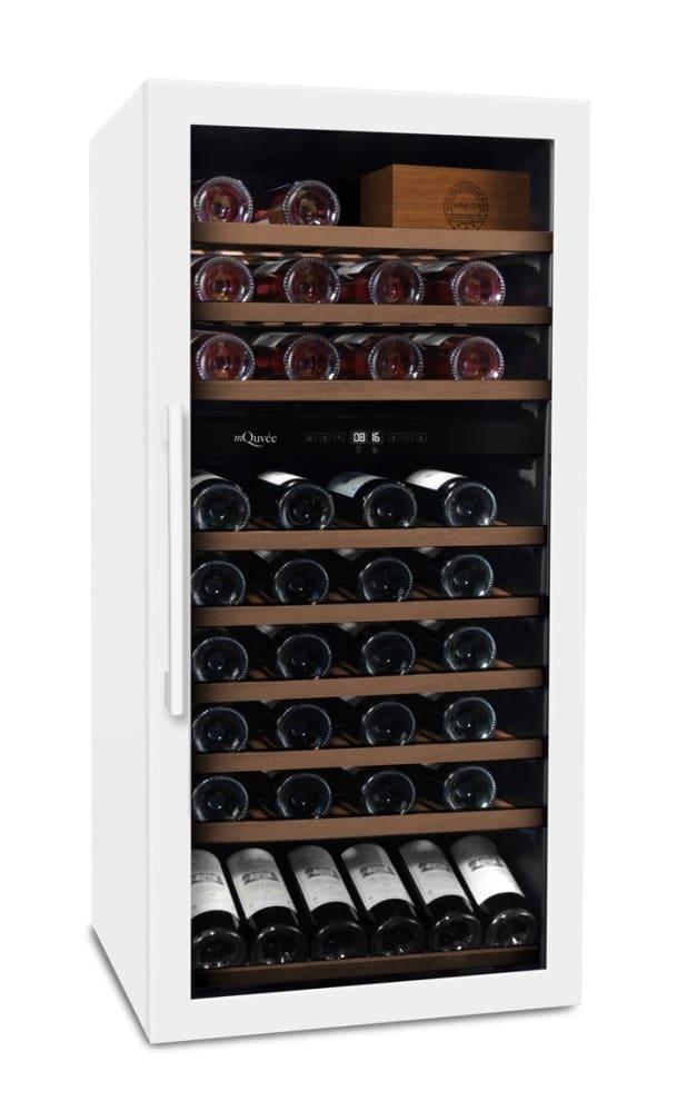 mQuvée Cave à vin à pose libre - WineServe 70 Powder White