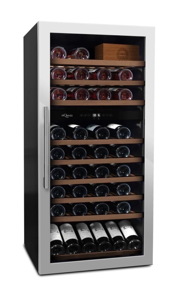 mQuvée Free-standing Wine Cooler - WineServe 70 Stainless