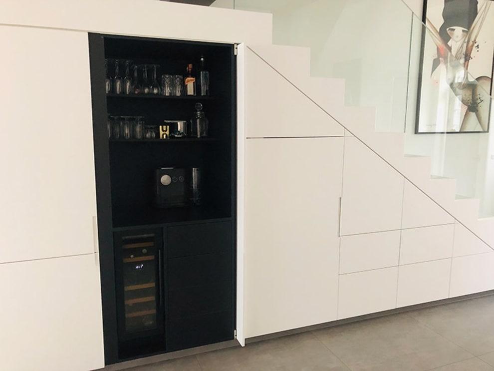 Innbyggbart vinskap - WineCave 700 30D Anthracite Black