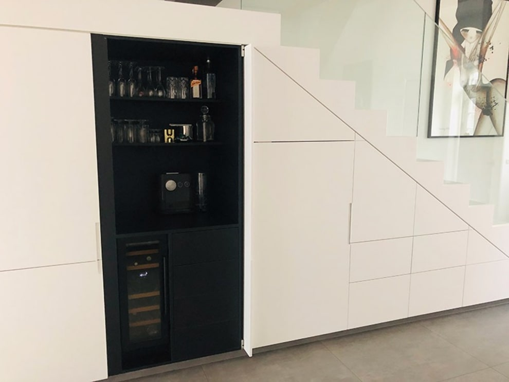 mQuvée innbyggbart vinskap - WineCave 700 30D Anthracite Black