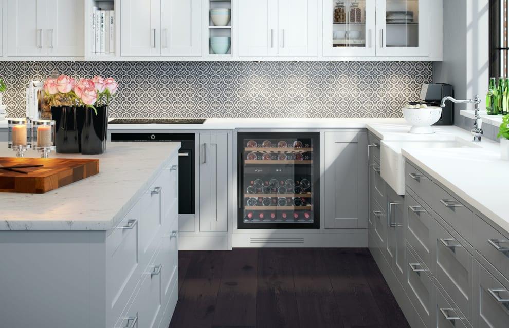 Innbyggbart vinskap - WineCave 700 60D Anthracite Black