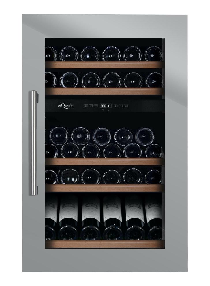 mQuvée Integroitava viinikaappi – WineKeeper 49D Stainless (L: 59 x K: 88,5 x S: 55 cm)
