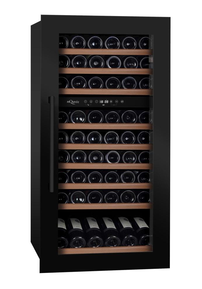 mQuvée Integrierbarer Weinkühlschrank - WineKeeper 70D Anthracite Black
