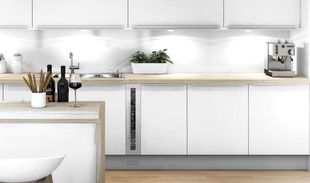 Vinkøleskab til indbygning - WineCave 15S Stainless