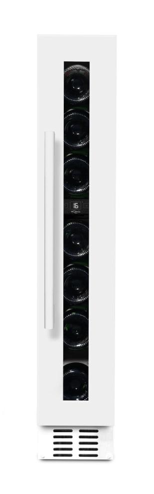 mQuvée Einbau-Weinkühlschrank - WineCave 15S Powder White (B:14,8 x H: 82/89 x T: 52,5 cm)