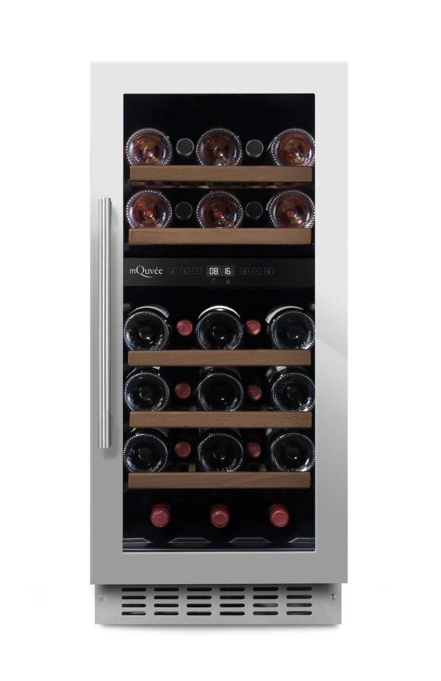 mQuvée Einbau-Weinkühlschrank - WineCave 700 40D Stainless