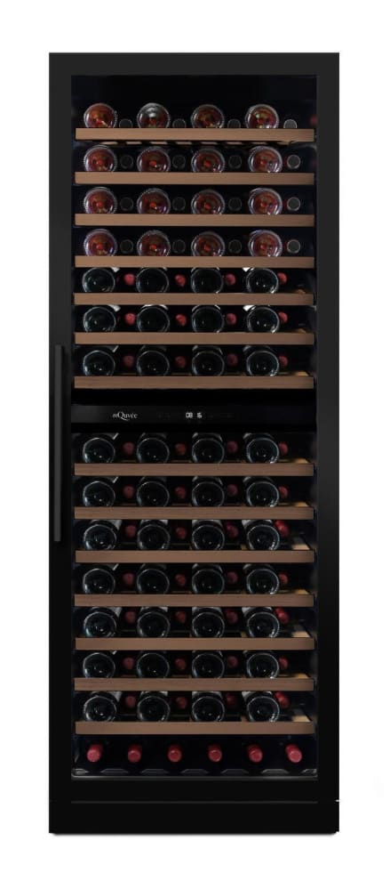 Inbyggbar vinkyl - WineCave 187 Anthracite Black