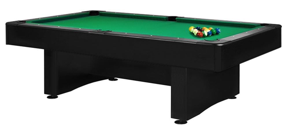 Billardbord Bilijardai Club 9 fod Sort bord - Grøn billardbeklædning