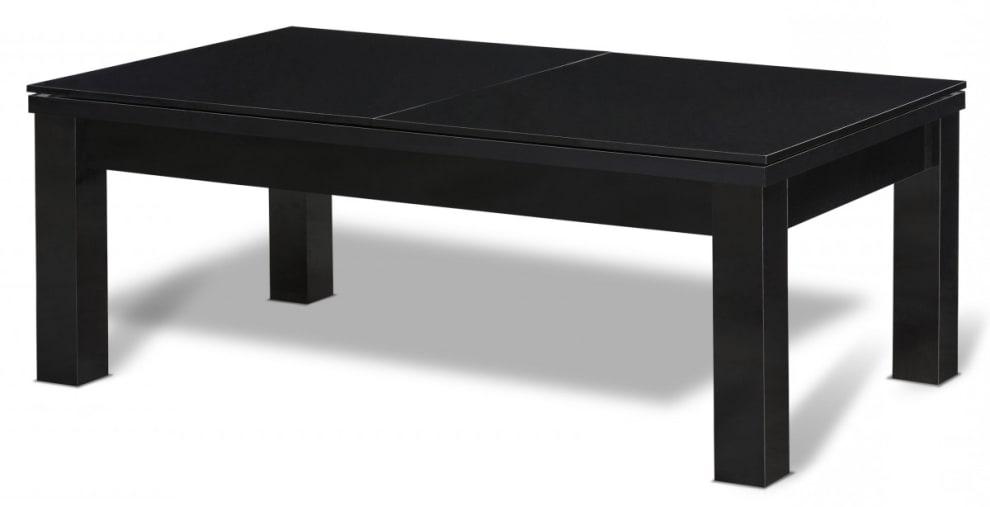 Biljardbord/Spisebord Milano 7 fot Sort bord (Yttermål: 231x132 cm) - Grå duk