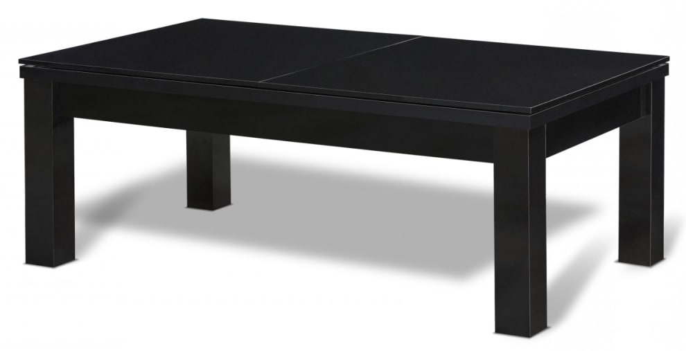 Billardbord/Spisebord Milano 7 fod Sort bord - Grå billardbeklædning