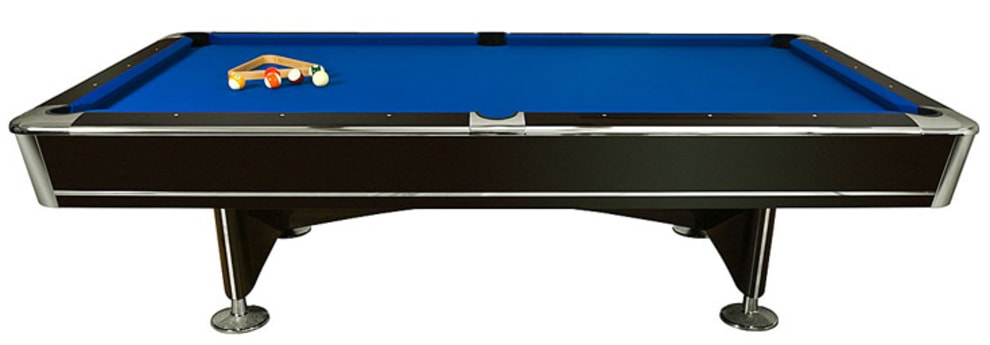 Biljardbord King II 8 fot med ballretur - mørkeblå