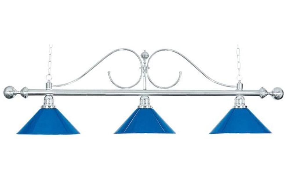 "Billardlampe ""Classic"" blå, 3 skærme, 112 cm"