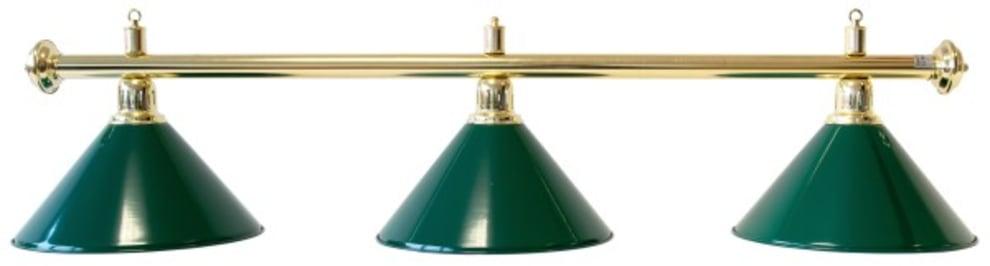 "Billardlampe ""Elegance"", grøn, 3 skærme, Ø 35 cm, 112 cm"