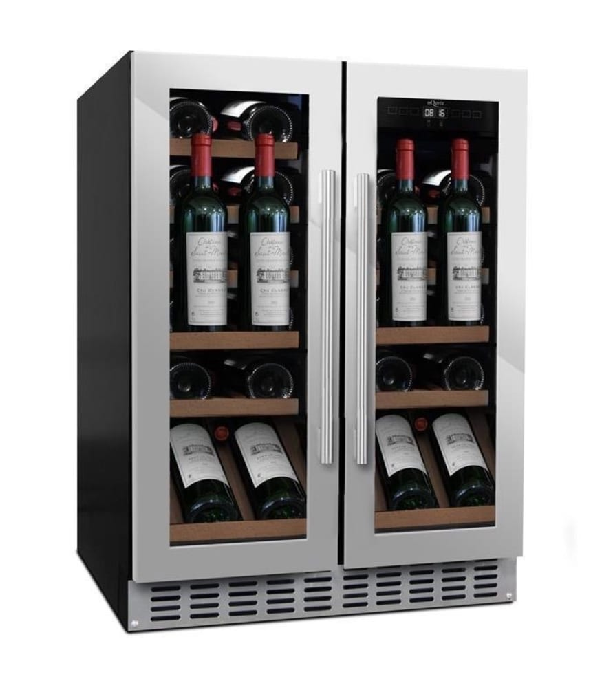 Cantinetta vino da incasso con mensola-vetrina - WineChamber 60D2 Stainless