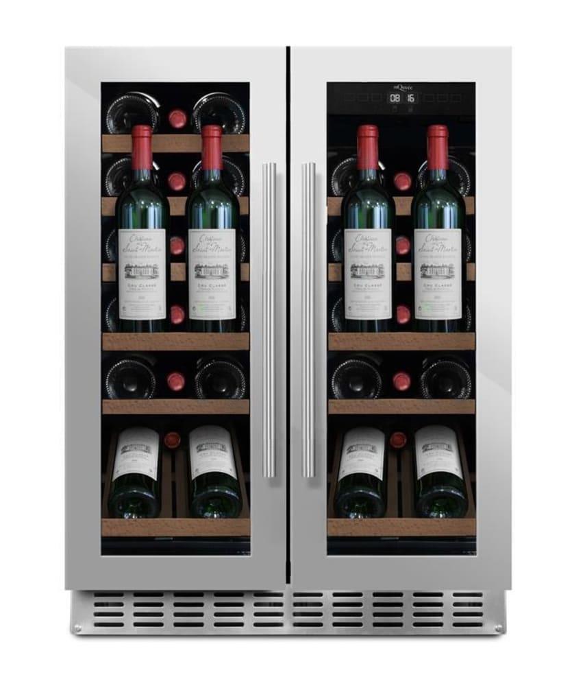 mQuvée innbyggbart vinskap Presentasjonhylle - WineCave 60D2 Stainless