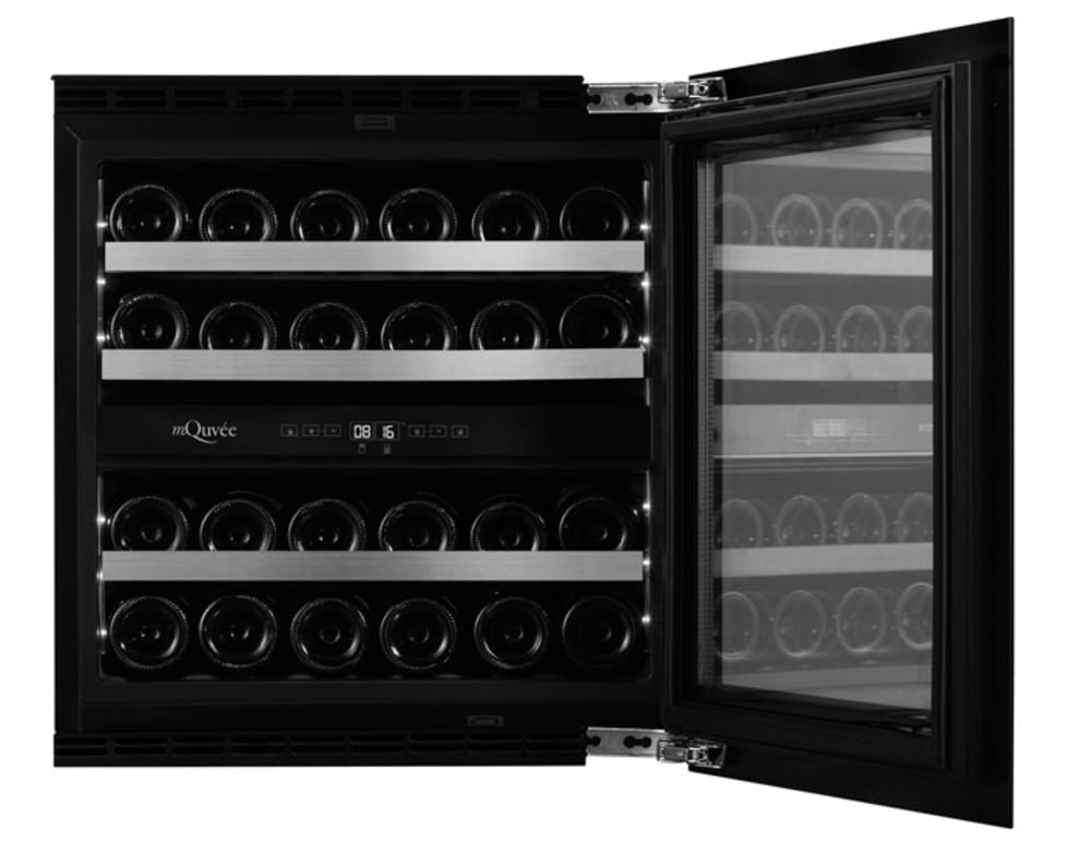 Integrérbart vinkøleskab – WineKeeper Exclusive 25D Fullglass Black Push/Pull