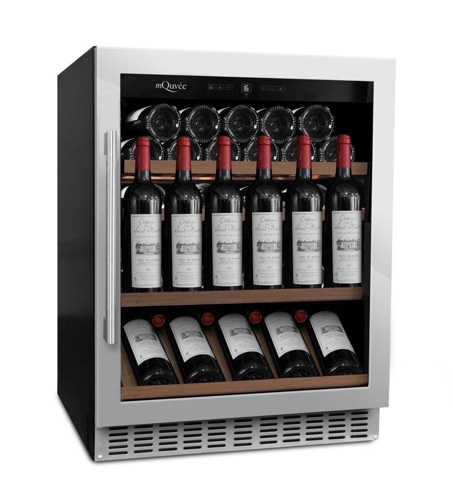 Cantinetta vino da incasso con mensola-vetrina - WineChamber 700 60S Stainless