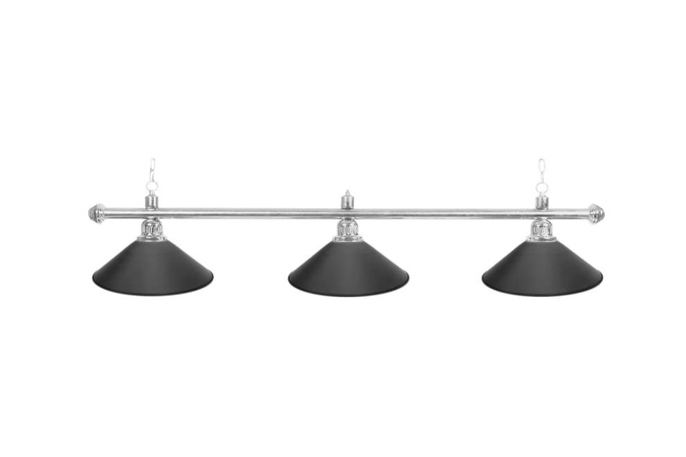 """Biljardlampa """"Blacklight"""", svart, 3 skärmar, Ø35 cm, 112 cm"""