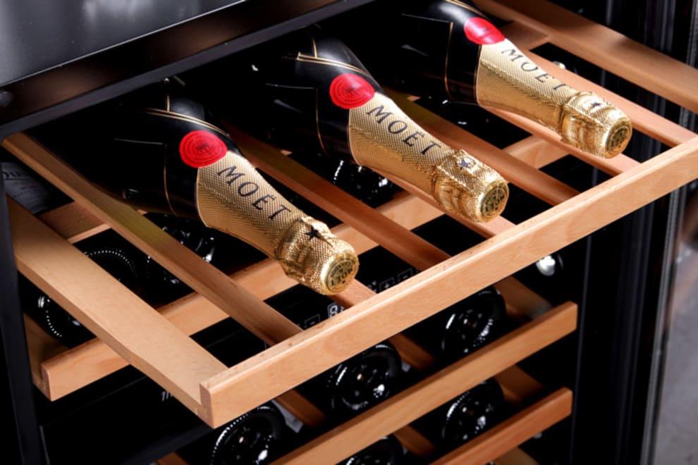 Innbyggbart vinskap - WineCave 60D Stainless