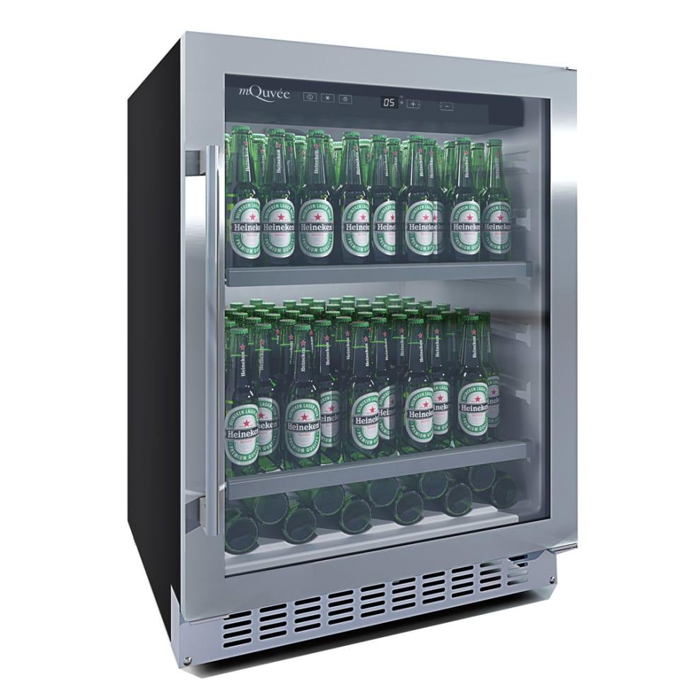 mQuvée Einbau-Bierkühlschrank - BeerServer 700 60 cm Edelstahl