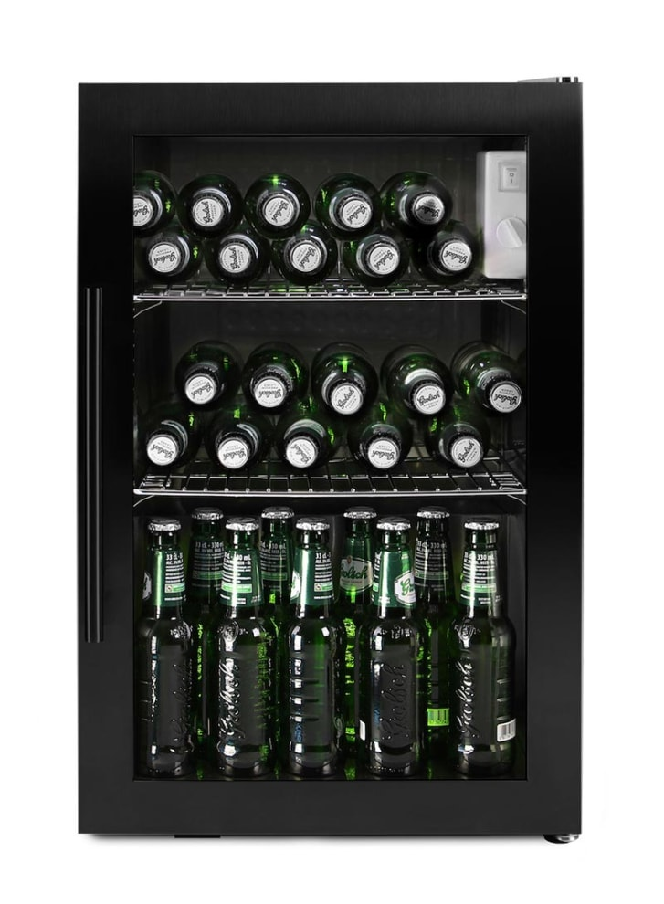 Fritstående ølkøleskab - 63 liter Sort