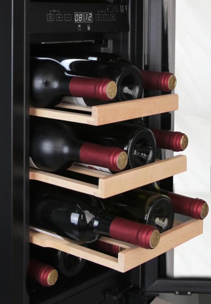 Cavin vinkøleskab til indbygning - Scandinavian Collection 30 Fullglass Black