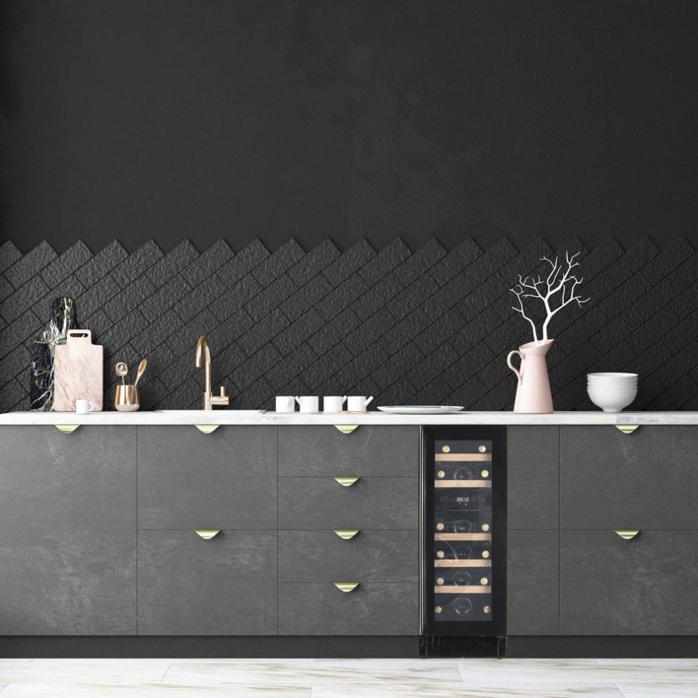 Vinkøleskab til indbygning - Scandinavian Collection 30 Fullglass Black
