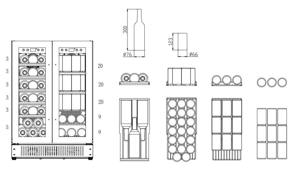 Vinkøleskab til indbygning – Scandinavian Collection 54
