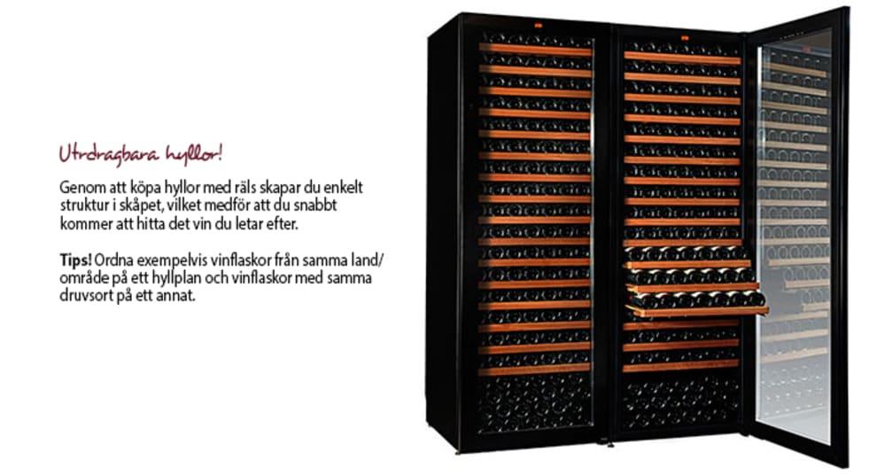 Köp hyllor med räls och skapa struktur i ditt vinlagringsskåp