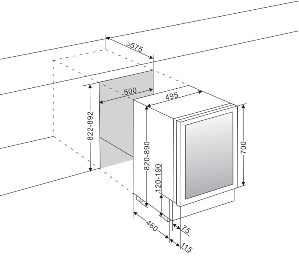 Einbau-Weinkühlschrank - WineCave 700 50D Stainless