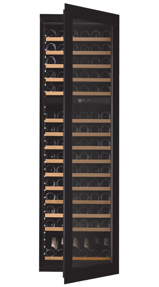 mQuvée Integrated wine cooler - WineKeeper Exclusive 112D Fullglass Black Push/Pull