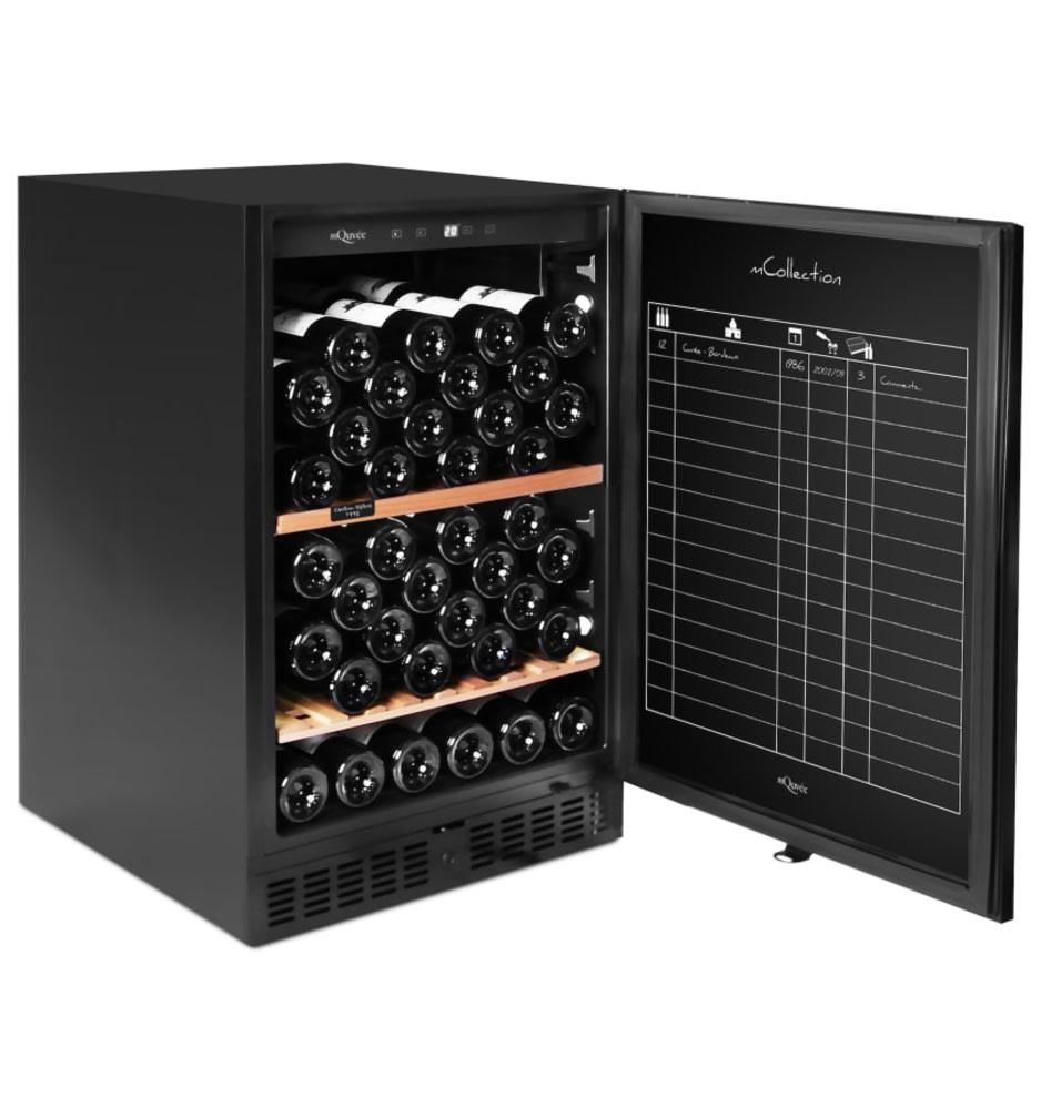 Armario de vino mQuvée - WineStore 82 Anthracite Black