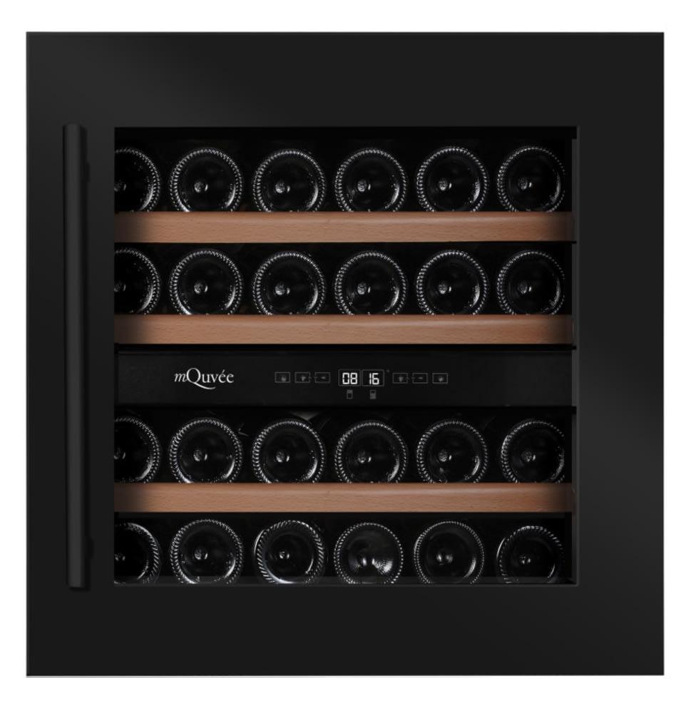 Integroitava viinikaappi – WineKeeper 25D Anthracite Black