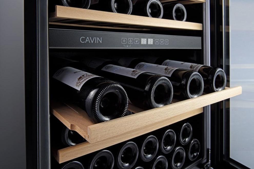 Cantinetta vino da incasso - Arctic Collection 60D Fullglass Black
