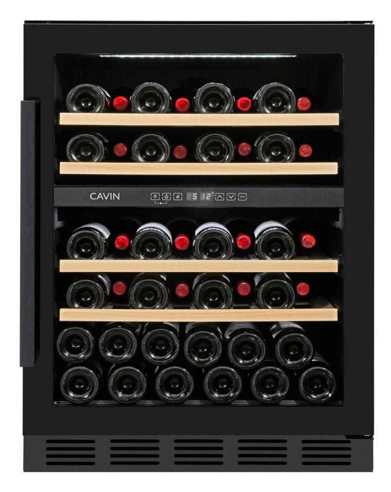 Sisäänrakennettava viinikaappi - Arctic Collection 60D Fullglass Black