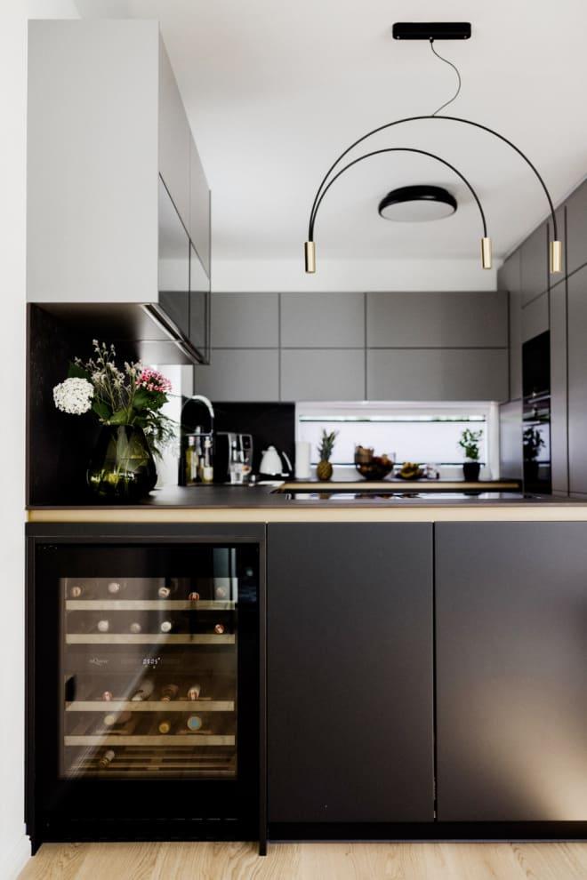 Einbau-Weinkühlschrank - WineCave Exclusive 700 60D Fullglass Black Push/Pull