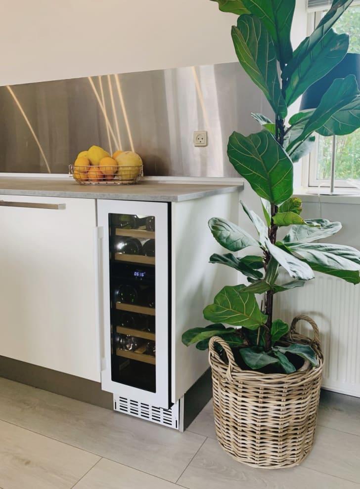 Vinkøleskab til indbygning - WineCave 30D Powder White