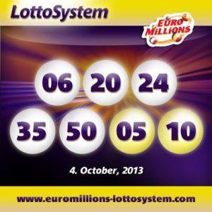 Dobbelt EuroMillions overførsel efter trækningen den 4. oktober