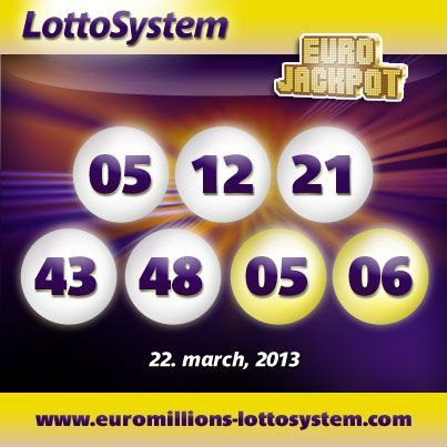 Euro Jackpot Lotto Resultater for 22 marts 2013
