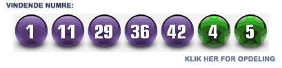 Siste Euro Millions lotto lodtrækning resultater