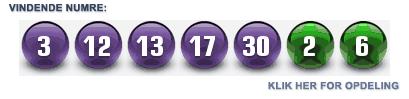 Siste vindertal i Euromillions lotteriet