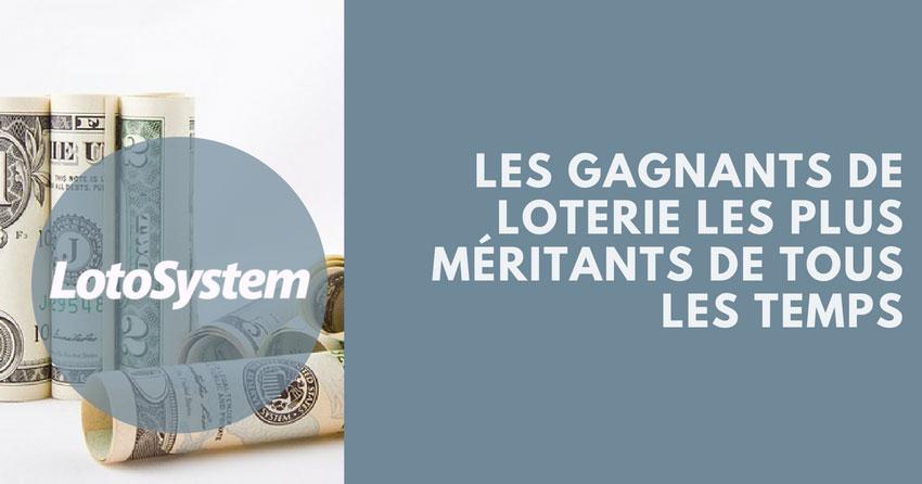 gagnants de loterie