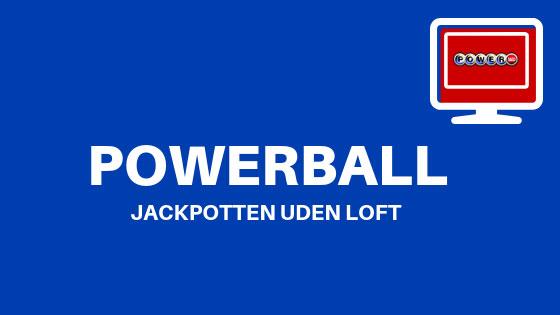 US Powerball: Jackpotten uden loft