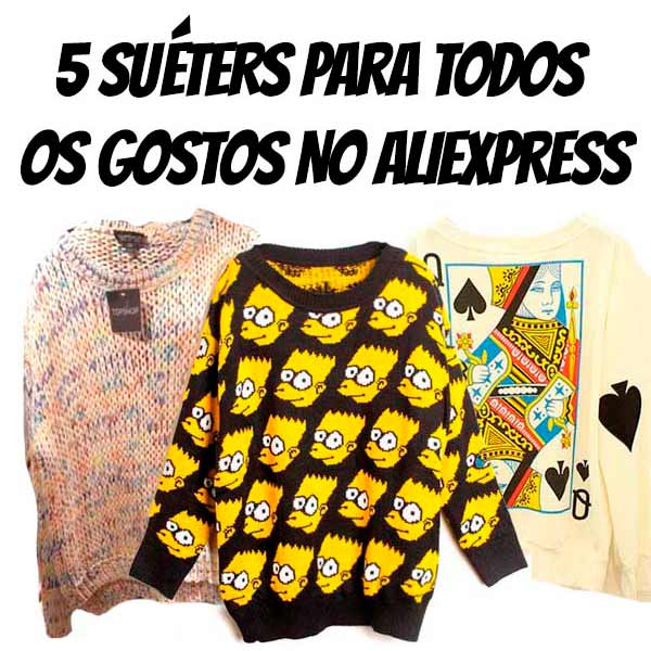5 sueters aliexpress