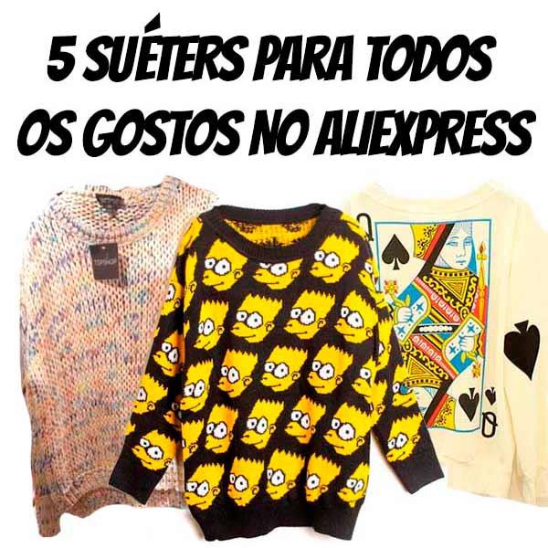 5 sueters aliexpress