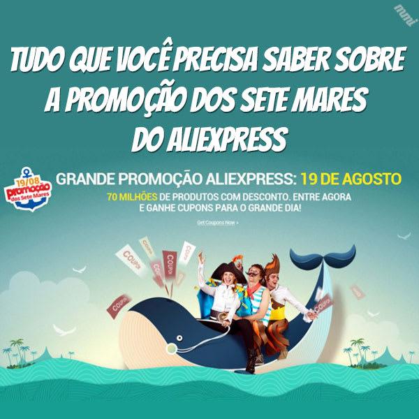 promoção de agosto aliexpress sete mares