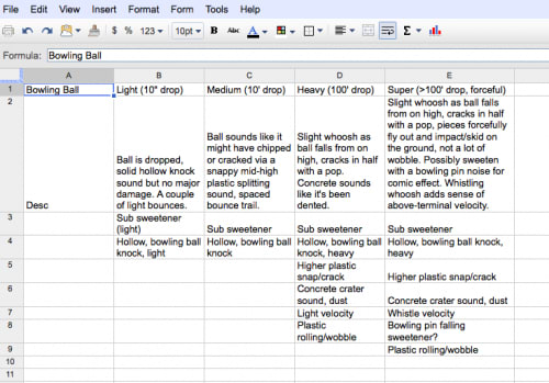 Early impacts planning for the bowling ball recording.