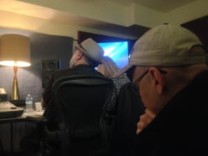 The back room of the PvZ: Heroes Bastyr recording session!