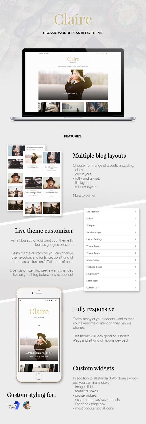 Claire - Classic WordPress Blog Theme - wordpress, themeforest, blog-magazine